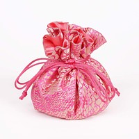 Pink and Gold Animal Prints Brocade Jewelry Pouch  Fully Lined   8 Interior Pockets