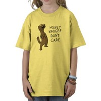 Honey Badger Don't Care Youth & Kids Shirt from Zazzle.com