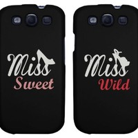 BFF Phone Covers - Miss Sweet and Miss Wild Matching Phone Cases for iphone 4, iphone 5, iphone 5C, iphone 6, iphone 6 plus, Galaxy S3, Galaxy S4, Galaxy S5, HTC One M8, LG G3