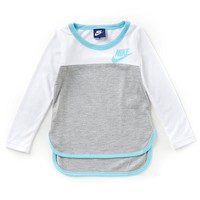 Nike Little Girls 2T-6X Long-Sleeve Colorblock Tee | Dillards