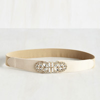 Little Bit of Glitz Belt in Vanilla | Mod Retro Vintage Belts | ModCloth.com
