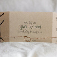 Tying the Knot Save the Date, Tie the Knot Invitation, rustic, Tree with Heart, Tie the Knot Save the Date, Rustic Save the Date set of 25