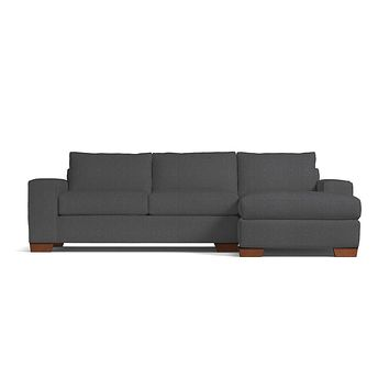 Melrose 2pc Sectional Sofa RAF in BORON
