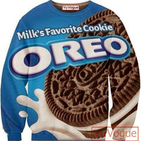3D Oreo Cookiesjumper, all over printing sweatshirt, sublimation sweaters.