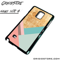 Wood Pattern Chevron Again Case For Samsung Galaxy Note 4 Case