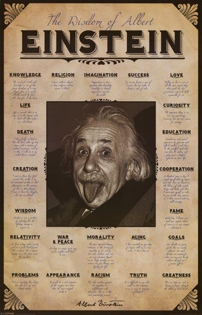Image of Albert Einstein Topical Wisdom Quotes Poster 24x36