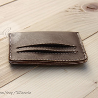 Leather wallet brown wallet mens wallet mens leather wallet credit card wallet credit card holder personalized wallet handmade wallet