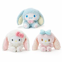 Cute Cartoon Easter My Melody Hello Kitty Cinnamoroll Dog Plush Toys Anime Soft Stuffed Animals Dolls Girls Lover Children Gifts