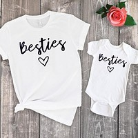Mommy + Me Besties Matching Shirts