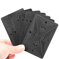 Skull Playing Cards Plastic Waterproof Card Game Gifts