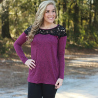 Women's Fashion Lace Patchwork Long Sleeve T-shirts [6338703428]