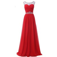 Chiffon Evening Dresses Red Blue Yellow Long Evening Gowns Formal Celebrity Backless Ball Prom Dress