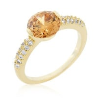 Champagne Isabelle Engagement Ring, size : 09