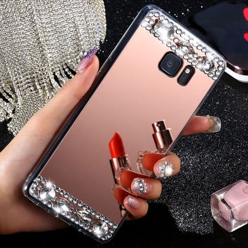 S7/ S7 Edge! Shiny Diamond Mirror Acrylic Hard Back Case For iPhone 6 /6 Plus/ 7 Bling Back Protective Cover