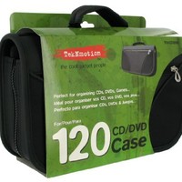 TekNmotion 120 Capacity CD/DVD Carry Case (Black)