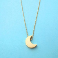 Crescent, Moon, Necklace, Goldfilled Necklace, Jewelry   simplecrystal - Jewelry on ArtFire
