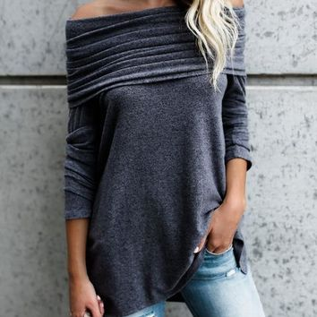 Ruffle Long Sleeve T-shirts [129154121753]