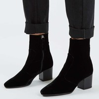 MOSCOW Velvet Western Boots - Topshop