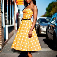 Rockabilly Swing Vintage Inspired Polka Dot by styleiconscloset