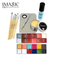 IMAGIC Professional  Makeup  Cosmetics 1 X12 Colors Body Painting+Skin Wax+professional makeup remover Makeup Set Tools