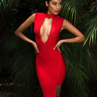 Joss Red Bandage Dress