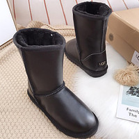 Ugg Hot Seller Of Stylish, Solid-colored Mid-leg Women's Casual Uggs With Wool Boots Shoes #9