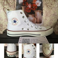 Classics High-top White Permeable Shoes [11913465747]