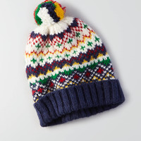 AEO Signature Pattern Beanie , Cream
