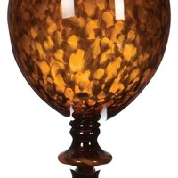Tortoise Globe Vase with Foot - contemporary - accessories and decor - by Arcadian Home & Lighting