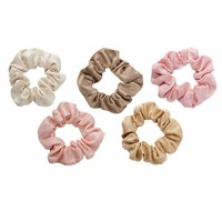 Blush Mauve Scrunchie Set