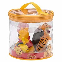 disney junior winnie the pooh piglet tigger eeyore bath toy set new with bag