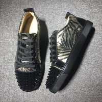 DCCK Cl Christian Louboutin Low Style #2010 Sneakers Fashion Shoes