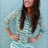 Green Abstract Tunic | The Rage