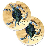 Crab Set of 2 Cup Holder Car Coasters 8159CARC