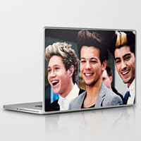 One Direction Niall Horan, Louis Tomlinson, and Zayn Malik Trio Laptop & iPad Skin by Toni Miller | Society6