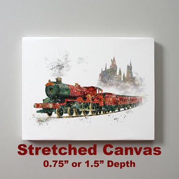 Hogwarts Express Stretched Canvas Print