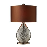 D1889 Sovereign Table Lamp In Antique Mercury And Coffee Plating