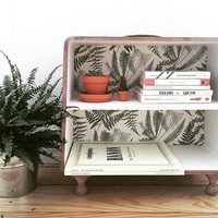 Palm Pattern Suitcase Shelf - Urban Outfitters