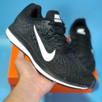 DCCK N554 Nike Zoom Winflo 5 Knit Mesh Breathable Running Shoes Black White