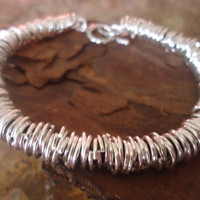 RINGED LEATHER dark brown leather  and silber by AsaiBolivien $12,90