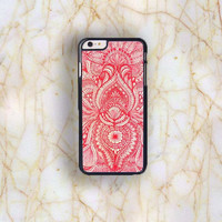 Dream colorful Dream colorful Red Mandala Plastic Case Cover for Apple iPhone 6S Plus 6S 6 6 Plus 4