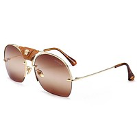 Versace Stylish Women Men Casual Summer Style Sun Shades Eyeglasses Glasses Sunglasses #2 Coffee I-8090-YJ