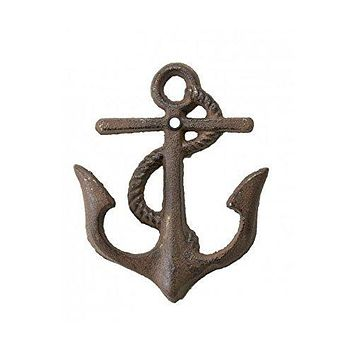 4pc Cast Iron Anchor double Hooks with matching screws