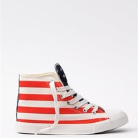 Red White And Blue Sneaks - Red/White