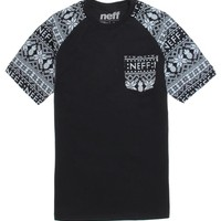 Neff Happy Holiday Raglan T-Shirt - Mens Tee - Black