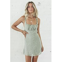 No Matter How Far Pistachio Mini Dress