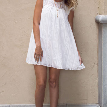 Evie Lace Baby Doll WHite Dress