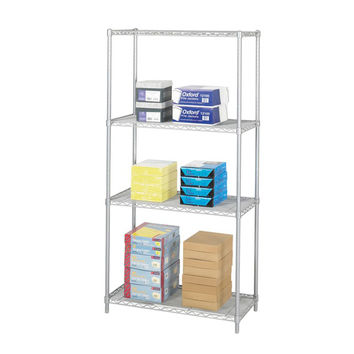 Safco Industrial Wire Shelving Storage Unit 36 x 18 Gray