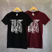 Skeleton Shirt - Halloween Shirt - Skeleton Costume - Skull Shirt - Skeleton TShirt - Halloween TShirt - Halloween Skeleton