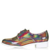 FLASH Holographic Lace-Up Shoes